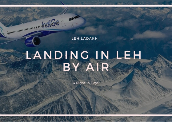 Landing In Leh by air