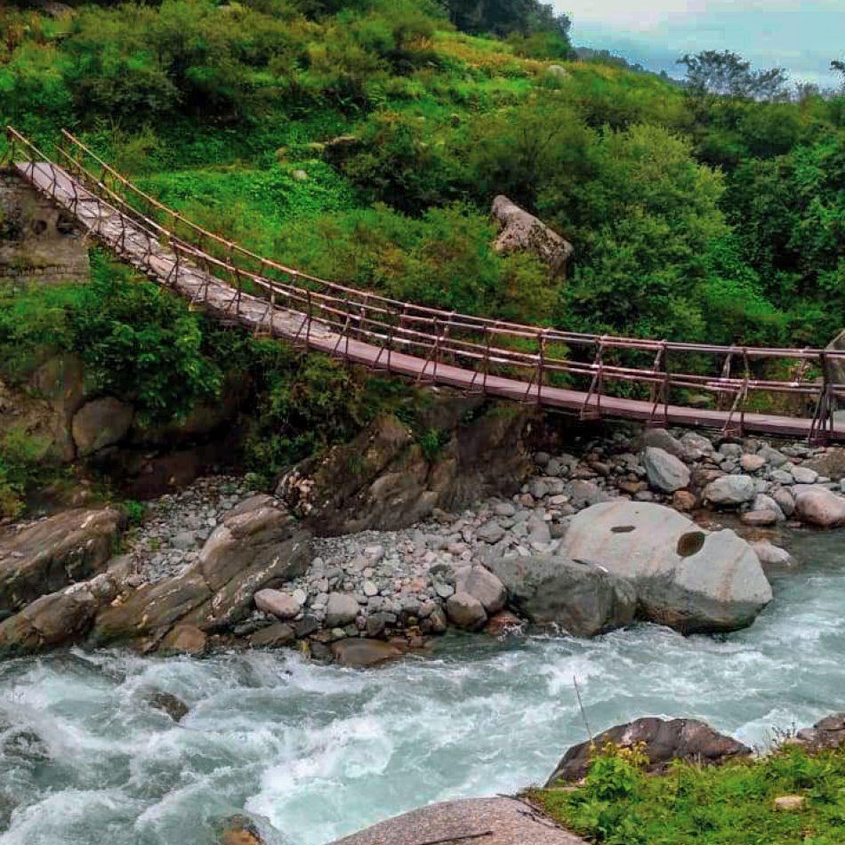 Rajgundha Trek _bridge crossing